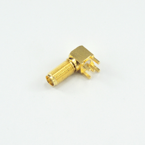 SMA jack right angle connector for pcb smt 50 ohm 5MAF25R-P04