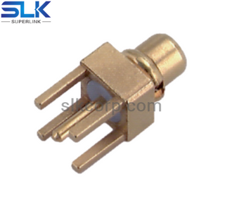 MMCX plug straight connector for pcb smt 50 ohm 5MCM25S-P01-002