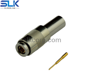 1.0/2.3 plug straight crimp connector for LMR195 RG58/U cable 50 ohm 5A1M11S-A45