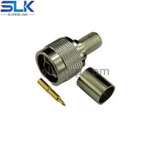N plug straight crimp connector for LMR-400 cable 50 ohm 5NCM11S-A11-076