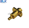 SBMA female straight crimp connector for RG316 cable 2 holes flange 50 ohm 5BSF11S-A50