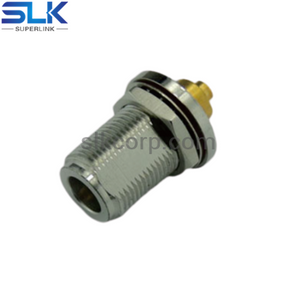 N jack straight solder connector for TFT-402 cable bulkhead front mount 50 ohm 5NCF35S-S02-011