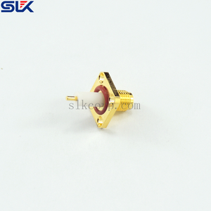 SMA jack straight solder connector for 4-hole flange 50 ohm 5MAF25S-P01-049