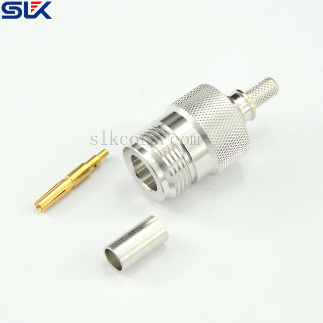 NON-MAGNETIC N jack straight solder connector for .RG 402 cable 50 ohm NM-5NCF15S-S02-038