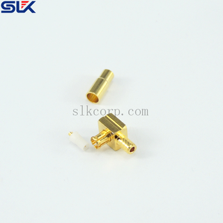 MCX plug right angle crimp connector for RG179 cable 75 ohm 7MXM11R-A01-009