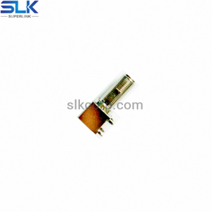 F jack right angle connector for pcb through hole 75 ohm 7FCF25R-P41-008