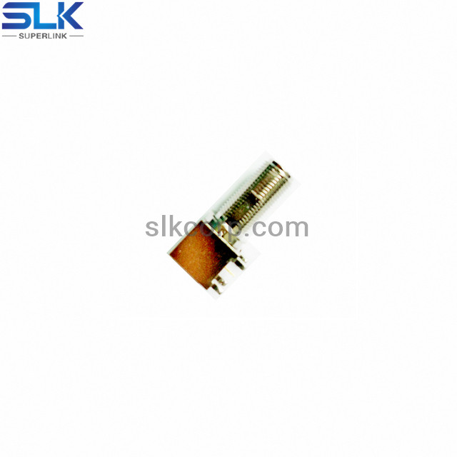 F jack right angle connector for pcb through hole 75 ohm 7FCF25R-P41-005