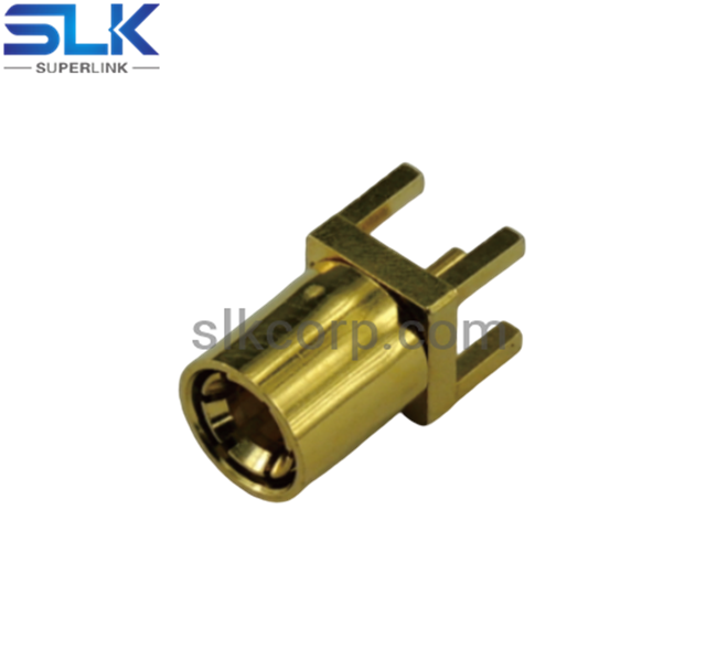 SMB plug straight connector for pcb end launch 75 ohm 7MBM25S-P41-009