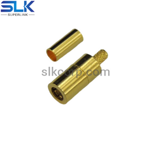SMB plug straight crimp connector for 1.5D-HQ cable 50 ohm 5MBM11S-A356