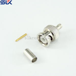 BNC plug straight crimp connector for LMR-200 cable 50 ohm 5BNM11S-A200-003