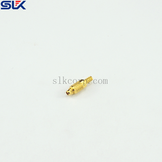 MMCX female to 3.5mm male straight adapter 50 ohm 5MCF06S-P3M-001