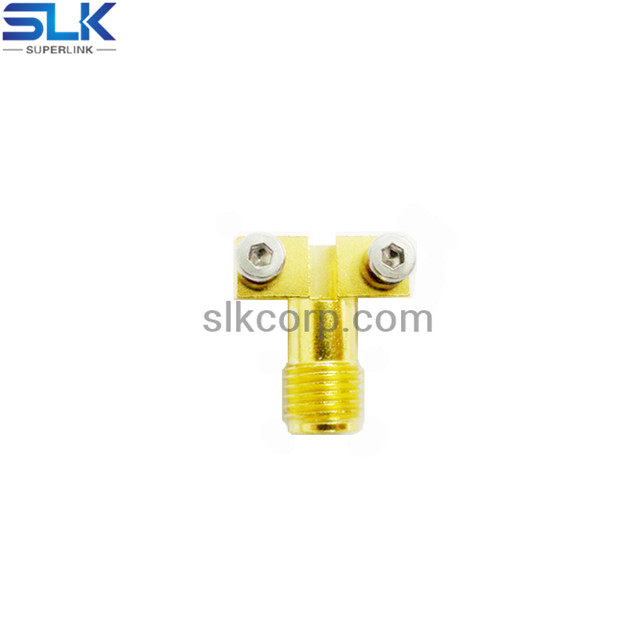 SMA jack straight connector for pcb edge launch 50 ohm 5MAF28S-P21-004