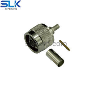N plug straight crimp connector for LMR-200 cable 50 ohm 5NCM11S-A08-008