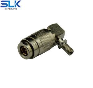 1.0/2.3 plug right angle crimp connector for SLR240 cable 50 ohm 5A1M11R-A46-001