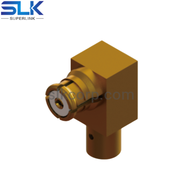 "SSMP jack right angle solder connector for .TFLEX-047"" cable 50 ohm 5MPF15R-S04-002"