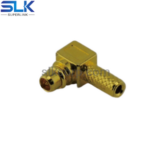 MMCX plug right angle crimp connector for RG178 RG196 cable 50 ohm 5MCM11R-A03-018