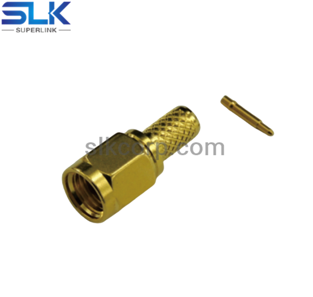 SMA plug straight crimp connector for RG58 LMR195 cable 50 ohm 5MAM11S-A41-011