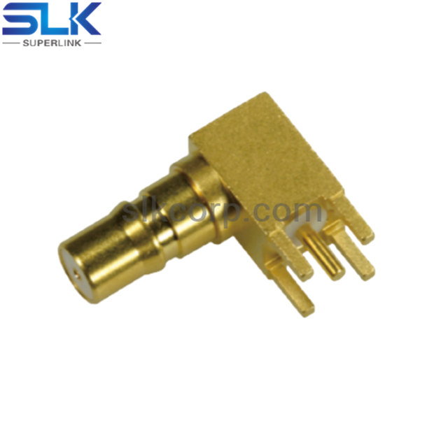 QMA jack right angle connector for pcb 50 ohm 5QAF25R-P01