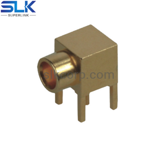 MCX jack right angle connector for pcb smt 50 ohm 5MXF25R-P41-003