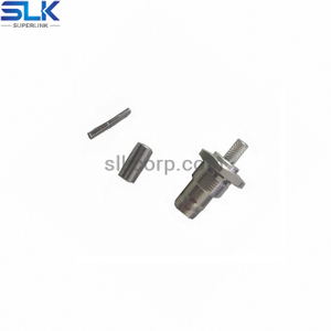 BNC jack straight solder connector for 086/RG405 cable bulkhead front mount 50 ohm 5BNF35S-S01-002