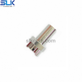 F jack straight connector for pcb end launch 75 ohm 7FCF28S-P21
