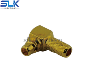 MMCX plug right angle crimp connector for RG316 RG174 cable 50 ohm 5MCM11R-A02-027