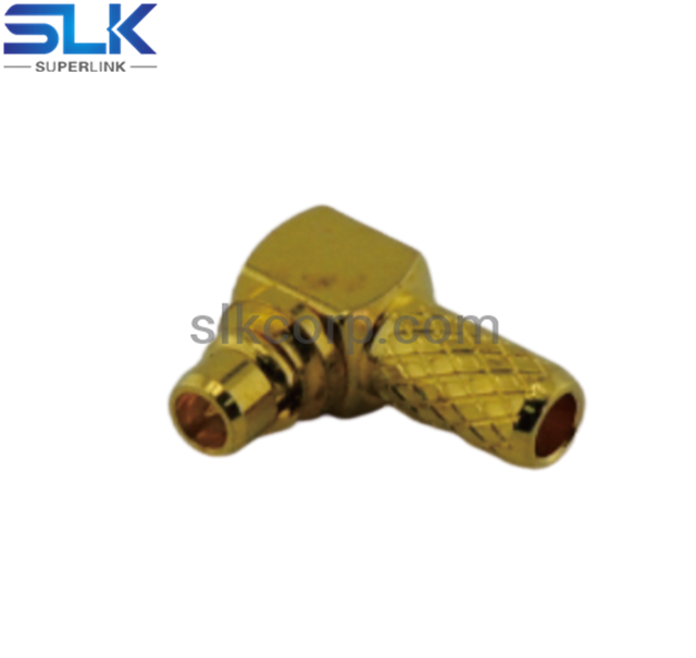MMCX plug right angle crimp connector for RG316 RG174 cable 50 ohm 5MCM11R-A02-028